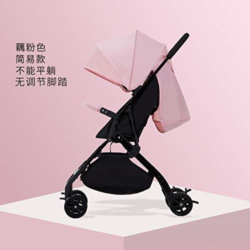 AZSUT - Cochecito de bebé, Carrito de bebé, súper portátil, Plegable, para paracaídas, bebé, Color Rosa Dinero Simple