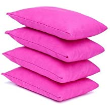 4 pack of Pink Cotton Fabric Bean Bags for Sports, PE, School, Catching Games, Sensory, Juggling