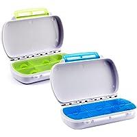 Lantelme 6759 Medikamentenbox Set 2 Stück - Wasserdicht - Kunststoff Farbe weiß/blau und grün - Tablettendosen... preisvergleich bei billige-tabletten.eu