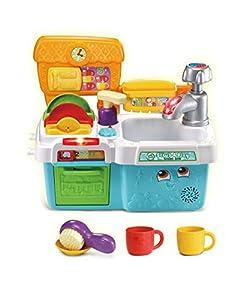 LeapFrog Scrub & Play Juguete Fregadero, Accesorios de Cocina para Jugar con clasificación de Formas, conteo y Colores, Juguetes para niños y niñas de 2, 3, 4, 5 años de Edad