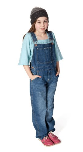 Uskees Dungarees For Kids Age 10-14 Stonewash Blue Girls Dungaree Boys Dungarees, Size: 10 Years, Colour: Blue