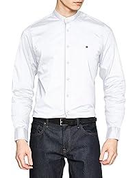 Tommy Hilfiger Herren Freizeithemd Slim Stretch Mandarin Shirt