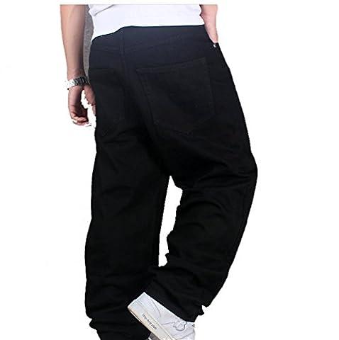 Ghope Sarouel baggy jeans et coton pour homme Cargo Combat Jeans Étoile Jeans Le Temps Est De En Vrac Hip Hop