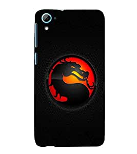 For HTC Desire 826 :: HTC Desire 826 Dual Simred circle, black wallpaper, dragon, icon Designer Printed High Quality Smooth Matte Protective Mobile Case Back Pouch Cover by APEX