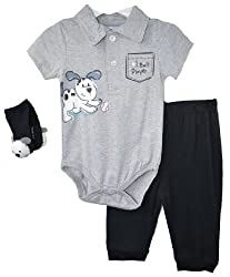 Vitamins Baby Boys 3 Piece Puppy Dog Pant Set - 9 Months