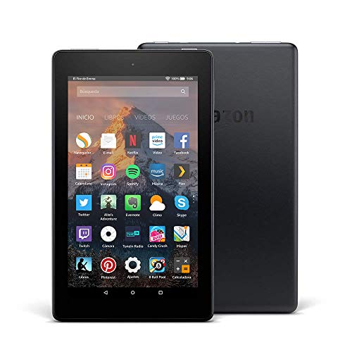 Tablet Fire 7, pantalla de 7'' (17,7 cm), 16 GB (Negro) - Incluye ofertas especiales