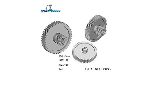 GEAR SET FOR HSP 1//8 4X4 ROCK CRAWLER part no98088. 52T//15T, 50T//15T, 50T DIFF