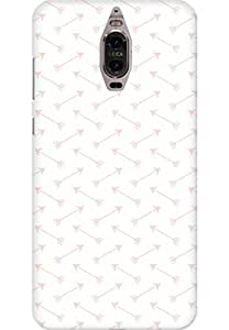 AMEZ designer printed 3d premium high quality back case cover for Huawei Mate 9 Pro (Pink-Arrows)