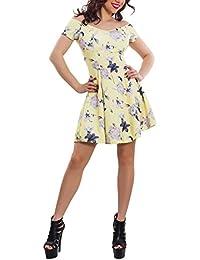 Toocool - Vestito donna miniabito svasato spalle nude gitana elegante sexy  nuovo GI-2544 06181a3f0e8