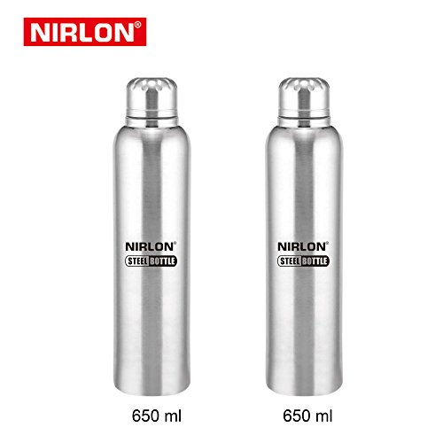 STAINLESS STEEL COOLING FREEZER BOTTLE SET OF 2, 650ml, SILVER BY NIRLON