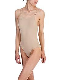 Silky DANCE Seamless Camisole Leotard Undergarment Underlayer Nude Flesh