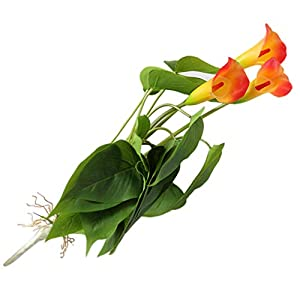 GSYClbf – 1 Flor Artificial para decoración de Oficina, hogar, jardín, Escenario, Fiesta, Bricolaje, Color Naranja