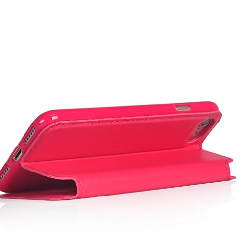 UKDANDANWEI iPhone 7 [Rr] Hülle Case, [ALL DAY] Colorful Jelly Case 360°Outdoor Touch Case Schutz Cover Hülle Handyhülle Silikon kratzfeste stoßdämpfende Case für iPhone 7 Rot Roar-HotRosa