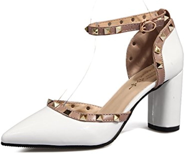 GAOLIM high-heel Schuhe Schuhe Damen-Schuhe Frühling und Sommer-Nieten für Frauen mit Spitze für Frauen Sandalenö