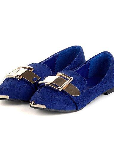 ShangYi gyht Scarpe Donna - Mocassini - Casual - A punta - Piatto - Finta pelle - Nero / Blu Black