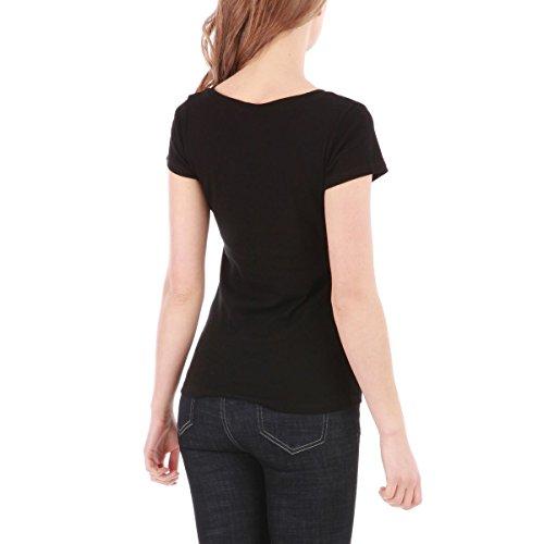 La Modeuse - T-shirt femme basique à manches courtes Noir