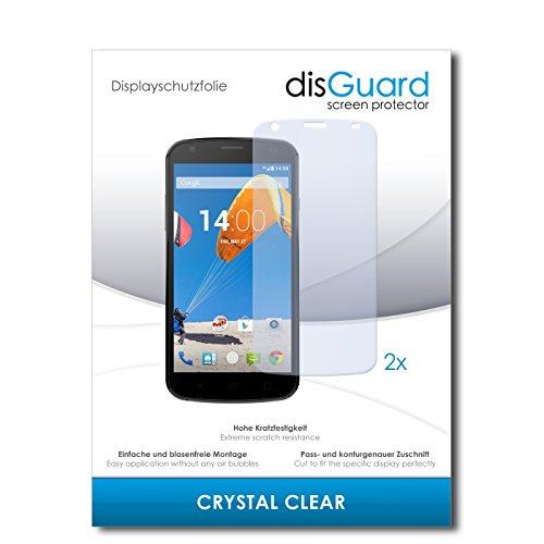 disGuard® Bildschirmschutzfolie [Crystal Clear] kompatibel mit MobiWire Pegasus [2 Stück] Kristallklar, Transparent, Unsichtbar, Extrem Kratzfest, Anti-Fingerabdruck - Panzerglas Folie, Schutzfolie