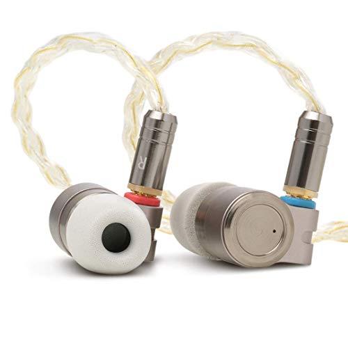 TINHiFi T3   Premium-In-Ear-Kopfhörer mit Single Dynamic und Knowles BA Driver   Hochwertiges Metallgehäuse   Abnehmbares MMCX-Kabel