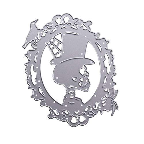 Cikuso Metall Schneide Form Fuer Halloween Schaedel Scrapbook Stahl Form Stanzen Kreative Stempel Praege Karten Form (Der Tat In Halloween-foto)