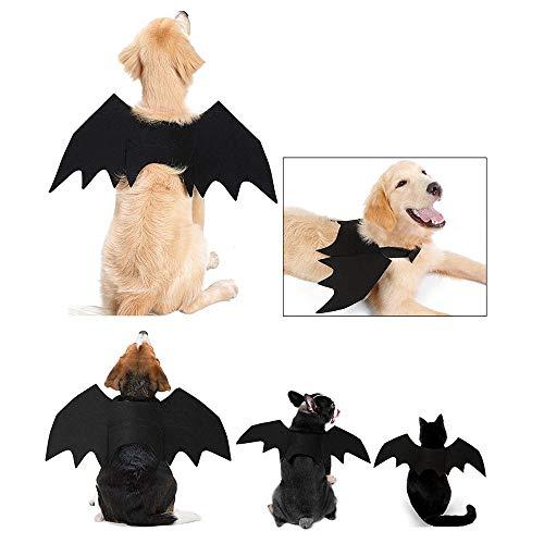 (KOBWA Katze Hund Bat Kostüm Flügel, Pet Fledermaus Vampir, Halloween Katze Kostüm für Katzen Hunde Pet Fledermaus Flügel Katze Hund Fledermaus Kostüm Flügel)