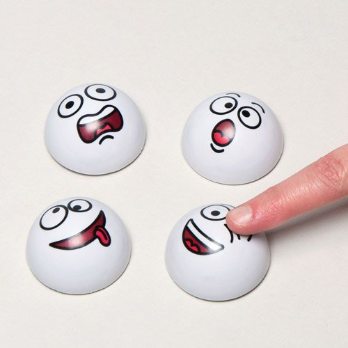 Snowball Funny Face Pull Back Racers Small Toy for Boys and Girls Perfect Christmas Stocking and Winter Party Bag Filler for Kids (Pack of 4)