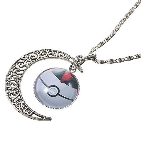 Collier Chaine et pendentif Pokemon GO Pokeball Chrono Ball ET