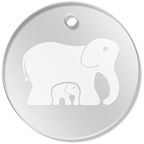 Azeeda 11 x 34mm 'Elefantes' Colgante Claro (PN00015133)