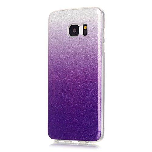 TPU Coque Galaxy S7 Edge, Bling Bling Gliter Sparkle Coque Galaxy S7 Edge Paillette [ Ultra Mince ] Housse Etui Premium Coque pour Samsung Galaxy S7 Edge +Bouchons de poussière (11RR)
