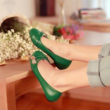 Confortevole ed elegante piatto scarpe donna in similpelle Ufficio Outdoor & Carriera Casual tacco piatto altri Verde Nero Rosso Bianco White