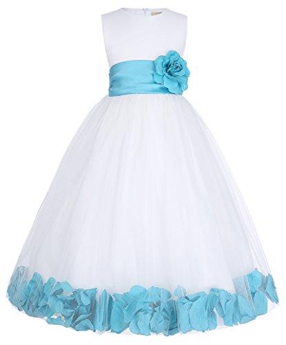 Hochzeit Braut Festzug Maedchenkleider mit swett Blumen Hochzeitskleid 4-5 Jahre