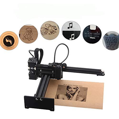 KKmoon 3500 mw Graviermaschine, Tragbare Desktop Laser Engraver, Mini Carver DIY Laser Logo Markendrucker mit Schutzbrille Arbeitsbereich 150mm * 150mm -