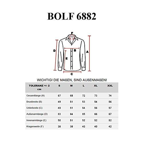 BOLF – Chemise casual – avec manches longues – Homme - 2B2 Gris clair