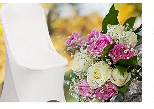 SPRINGROSE Spring Rose Stuhlhussen aus elastischem Elasthan, faltbar, 50 Stück Diese sind für Standard-Klappstühle aus Metall und Kunststoff hergestellt.