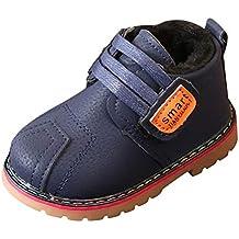 BBestseller Zapato para niños Bebé Niños Cuero Botín de Invierno Calor  Zapatos de Nieve Botas Más 403d3ea6776