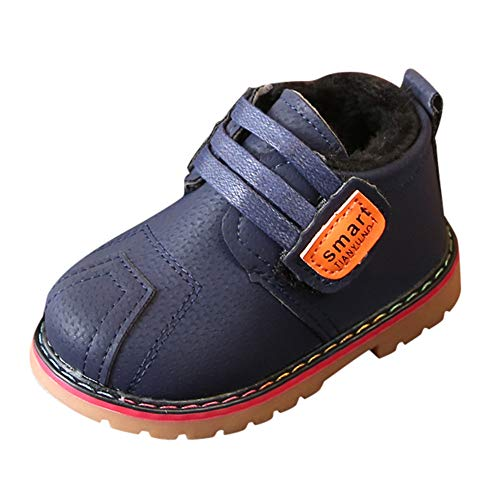 bebé de Goma para niños Botas, JiaMeng Bebé Infant Toddler Winter Warm Shoes Navidad Snow Boots Zapatillas(Azul Oscuro,2.5-3Years)