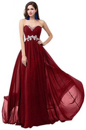 Sunvary elegante e corsetto Chiffon Prom abiti da damigella d'onore, con imbottito decorato con strisce di tessuto pieghettato Verde brillante