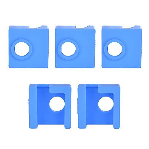 ET 5 Stück 3D Drucker Heizblock Silikon Abdeckung/Socke MK7/MK8/MK9 Hotend kompatibel mit Creality CR-10,10S, S4,S5, Ender 3, Anet A8, blau, 5