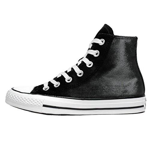 Converse Womens Chuck Taylor All Star Hi Velvet Trainers Black White