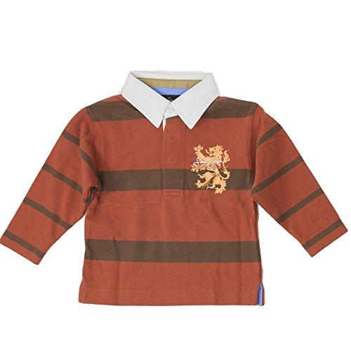 sean-john-baby-jungen-polo-langarm-t-shirt-mit-hemd-kragen-bronze-lwe-metallic-print-68-80
