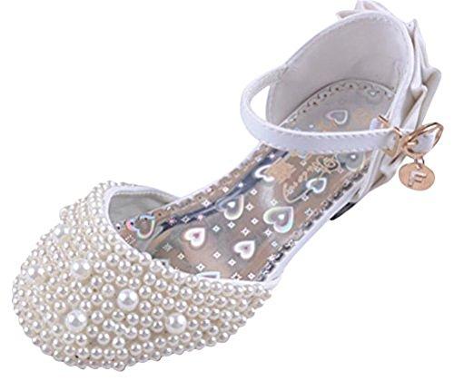 dchen Prinzessin Schuhe Tanzschuhe PU Leder Strass Applikation Knöchelriemchen Halbschuhe mit Absatz (30, Style 2) (Fett 2 Kostüm)
