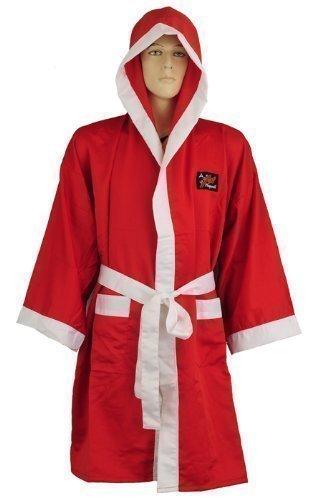 Playwell - Bata de boxeo (seda), color rojo Talla:xx-large