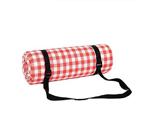 lacyan 6mm de grosor al aire libre Picnic manta impermeable alfombra de picnic Mat Manta de viaje plegable con cinturón llevar para la playa, viajes, Camping