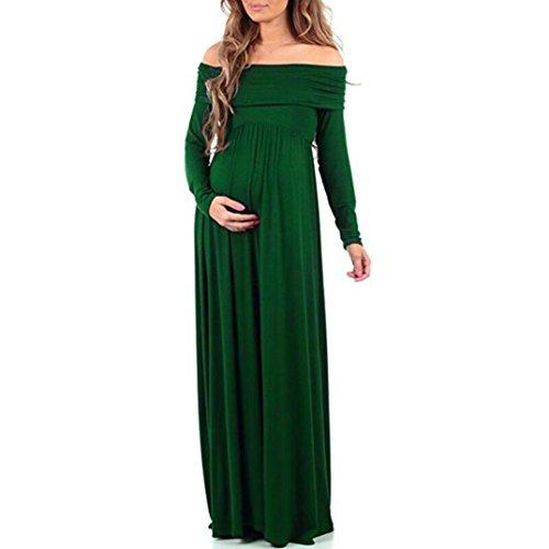 Umstandskleidung, ESAILQ Frauen Cowl Neck Pregnants Sexy Fotografie Requisiten aus Schultern Mutterschaft Pflege Kleid (Neck Mutterschaft Kleid Cowl)