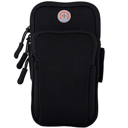 Watache Universal-Armtasche, wasserabweisend, ohne Aufprallen, für iPhone XS, Max 8, 7, 6S Plus, Galaxy S9 Plus, S8, Note 9, 8, Laufen, Fitnessstudio, Outdoor, Workout, schwarz (16 Unzen Tasche Handschuhe)