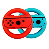 BOROK Mario Kart Lenkrad -2PCS Joy-Con Racing Schalter Wheel Controller mit Griff für Nintendo Switch(Blue+Red)