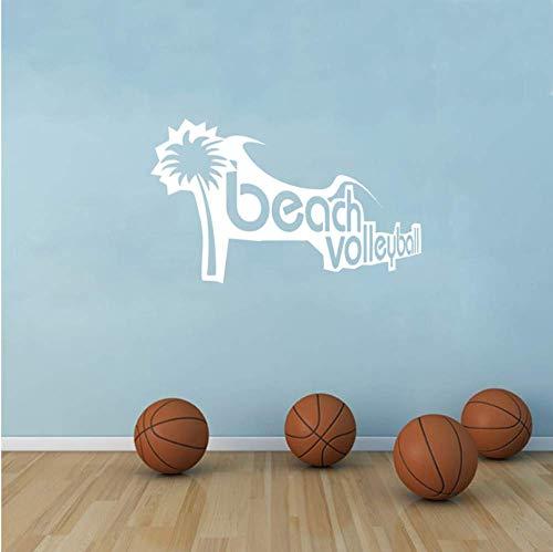 Beach Volleyball Vinyl Aufkleber Sport Erholung Freizeit Wandaufkleber 43X28Cm