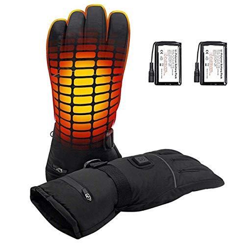 Azornic guanti riscaldanti alimentati a batteria, per uomini e donne, impermeabili. Riscaldamento elettrico, guanti termici invernali per campeggio, sci, escursionismo, caccia, attività all'aperto