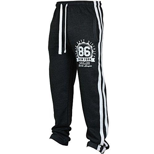 Kobay Sport Jogging Uomini di Modo Fitness Pant Allentate Casuali Pantaloni Felpa con Coulisse Pant(Nero,XXX-Large)