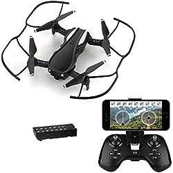 HELIFAR H1 Drone con cámara WiFi FPV 720P HD , RC Quadcopter RTF Altitude Hold, Drone Plegable con ángulo de cámara Ajustable, Sistema Estable 2.4G, Alarma al Fuera de Rango, Bateria Modular