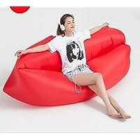 Tumbona inflable rápida – Tumbona portátil para interiores y exteriores, sofá cama de aire,